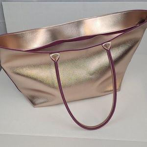 NWT Bath & Body Works Rose Gold Vegan Tote Bag